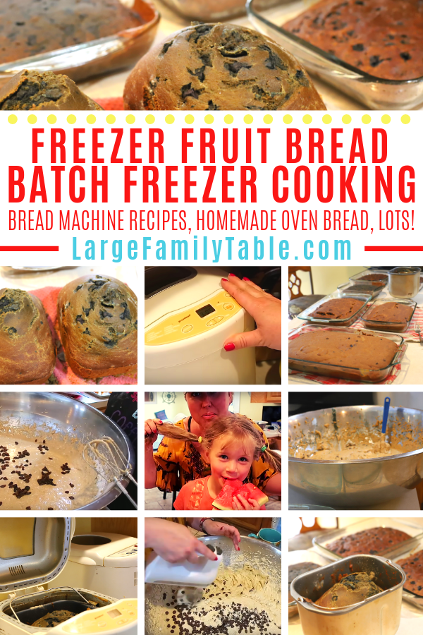 Freezer Fruit Bread Big Batch Freezer Cooking