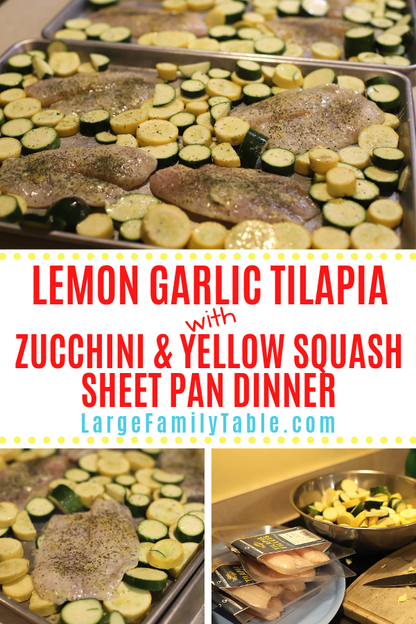 Lemon Garlic Tilapia  Sheet Pan Dinner