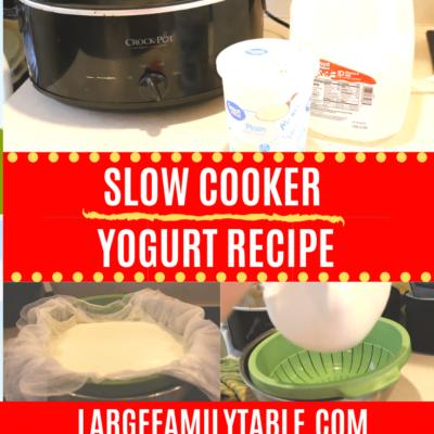 Slow Cooker Yogurt Recipe
