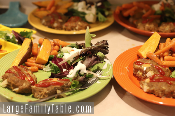 Turkey Meatloaves with Sweet Potatoes & Carrots