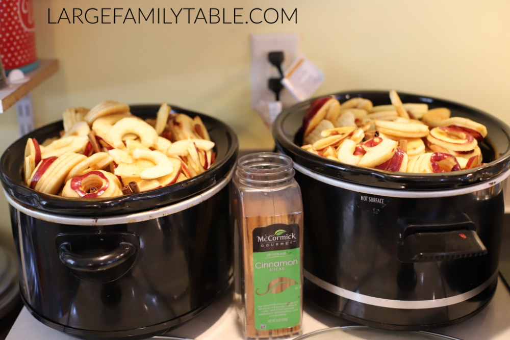 slow cooker applesauce and apple butter