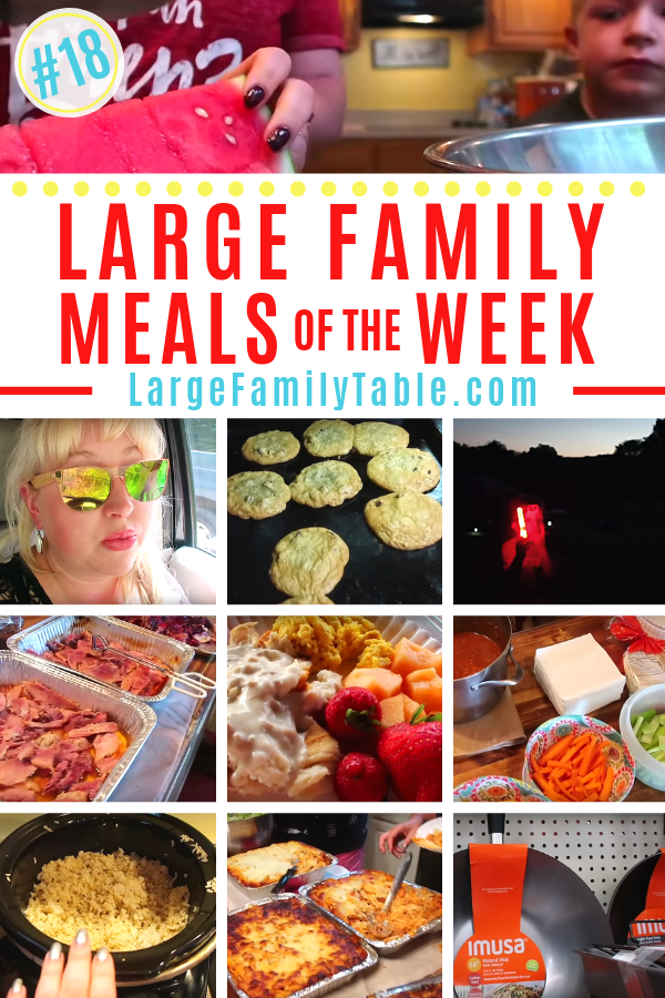 Large Family Meals of the Week #18