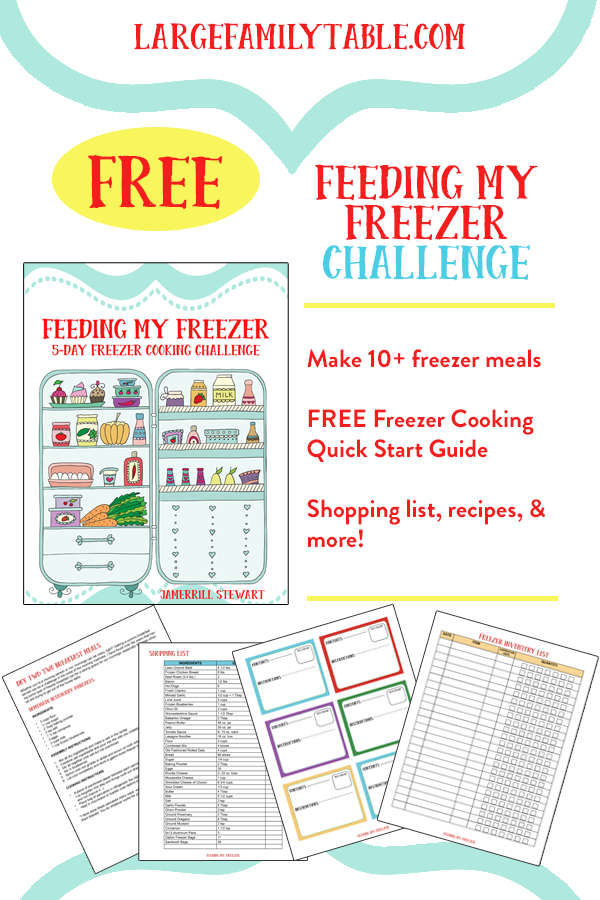 Freezer Cooking Challenge