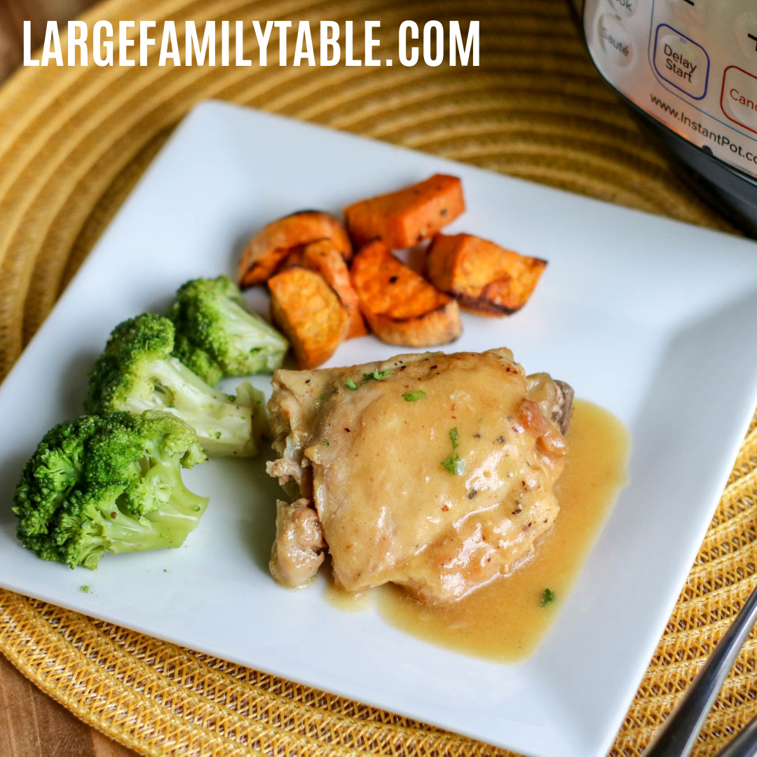 Instant Pot Honey Mustard Chicken Thighs Largefamilytable Com