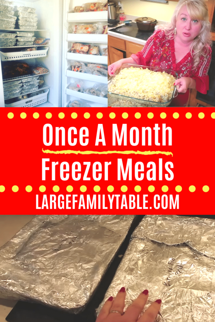 Once a Month Freezer Meals