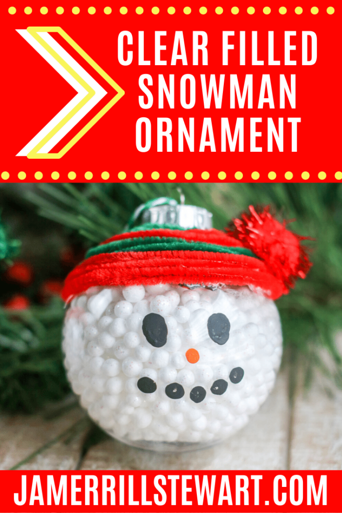 Do you want to build a snowman? These clear filled snowman ornaments are a fun way to do that without all the mess and cold.