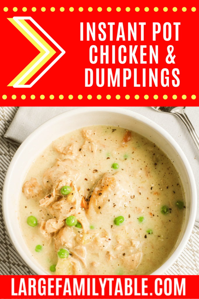 Large Family Instant Pot Chicken and Dumplings