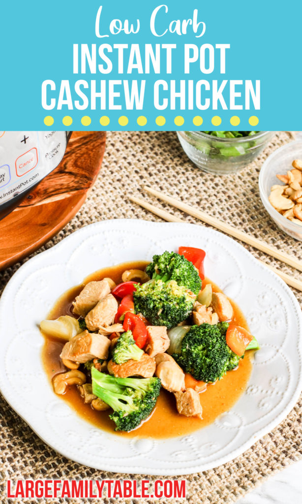 Instant Pot Low Carb Cashew Chicken