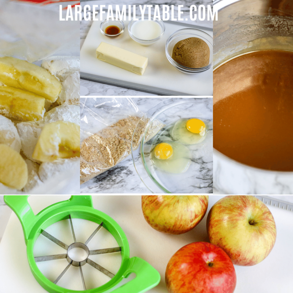 Large Family AIR FRYER APPLE FRIES RECIPE