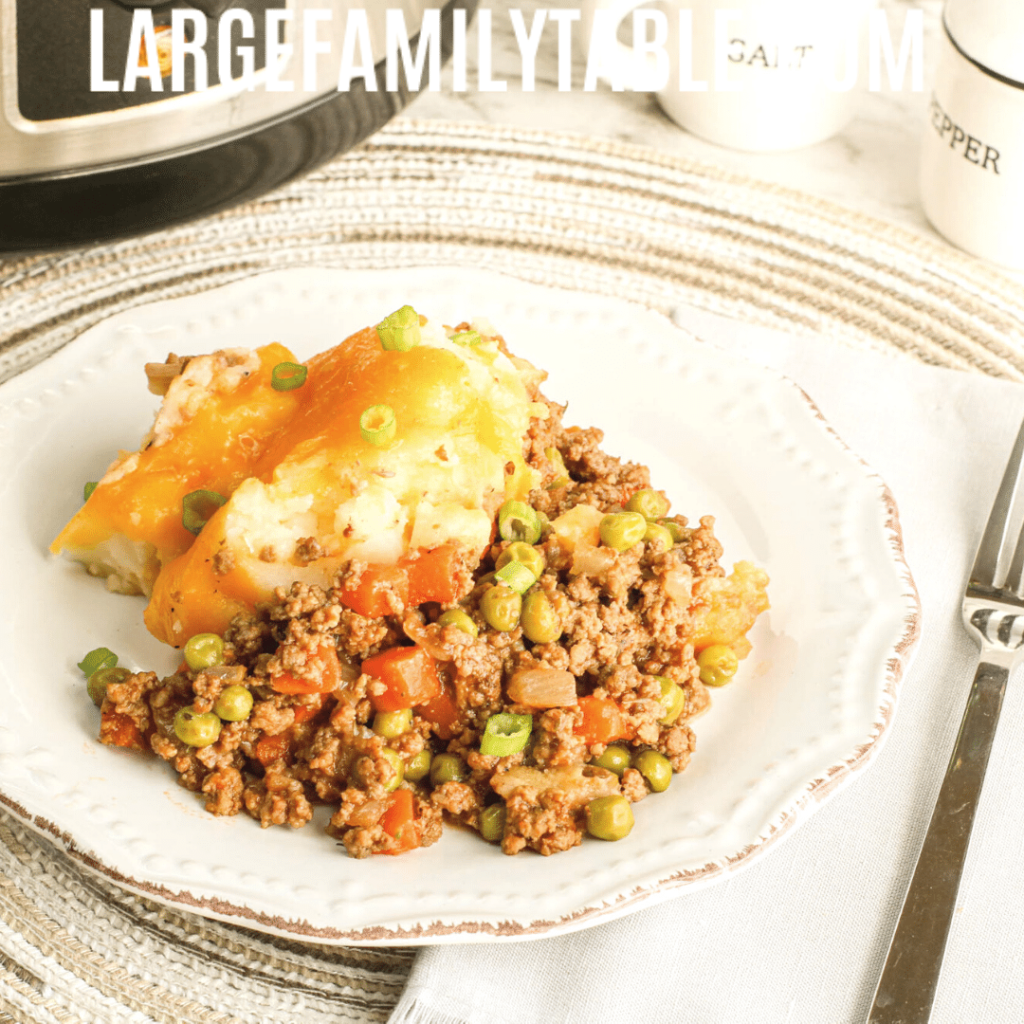 Large Family Slow Cooker Shepherd's Pie Recipe