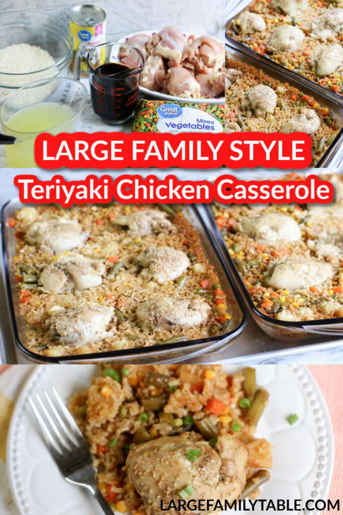 Teriyaki Chicken Casserole | Large Family Recipes