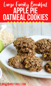 Apple Pie Oatmeal Breakfast Cookies