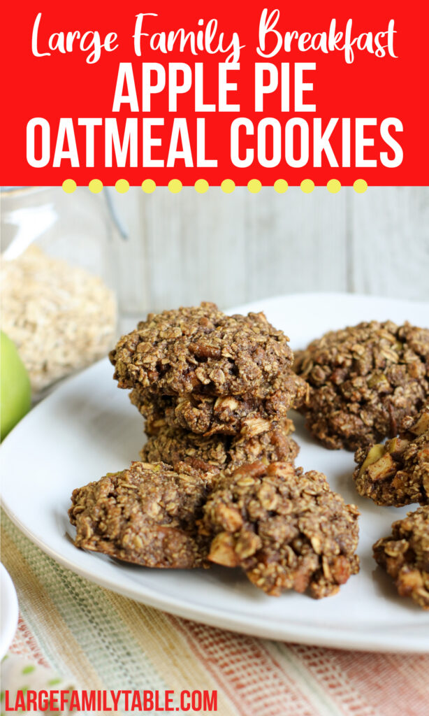 Apple Pie Oatmeal Breakfast Cookies