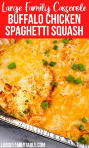 Buffalo Chicken Spaghetti Squash Casserole
