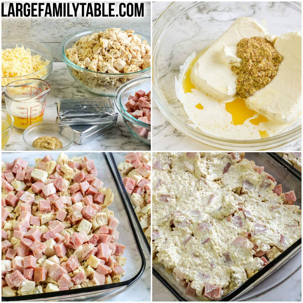 Low Carb Chicken Cordon Bleu Casserole | Large Family Dinner Ideas