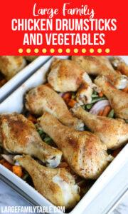 Chicken Drumsticks and Vegetables