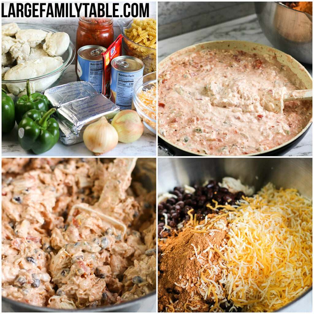 Big Family Chicken Fajita Pasta Casserole | Large Family Recipes