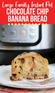 Large Family Instant Pot Banana Bread Peanut Butter Chocolate Chip | Large Family Table Baking