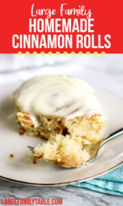 Homemade Cinnamon Rolls with Icing