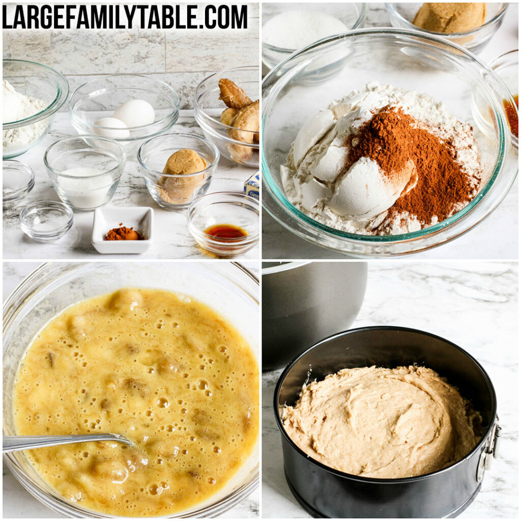 Large Family Instant Pot Banana Bread | Dairy-free Option, Freezer-Friendly