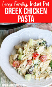 Instant Pot Greek Chicken Pasta