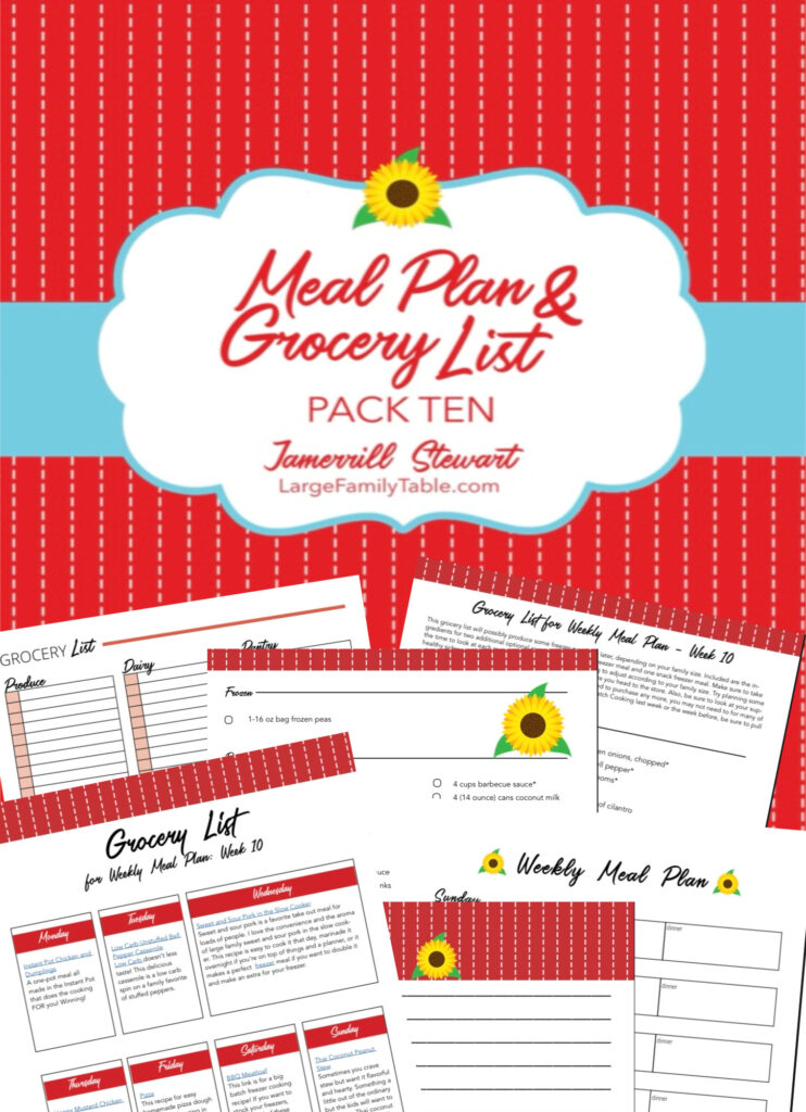 Meal plan pack 10