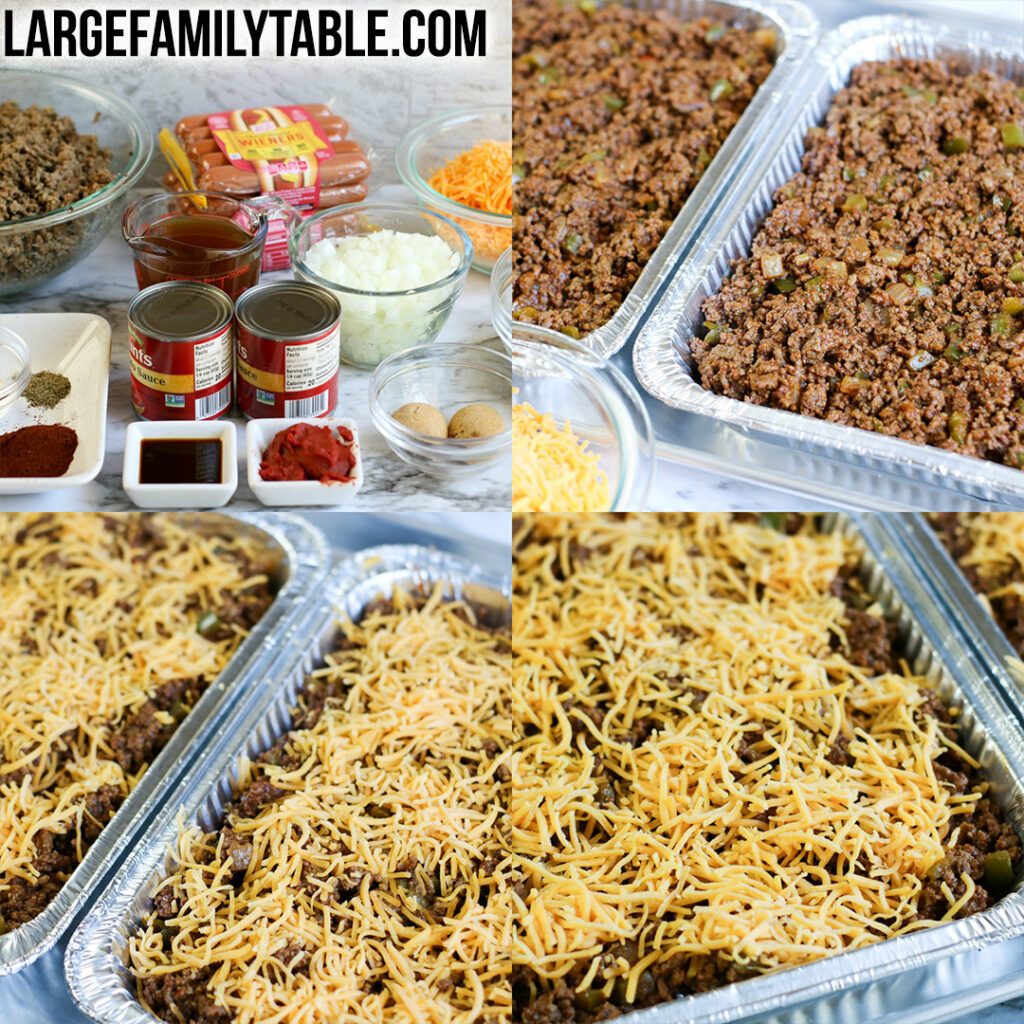 Low Carb Chili Dog Casserole Freezer Meal | Large Family Casseroles