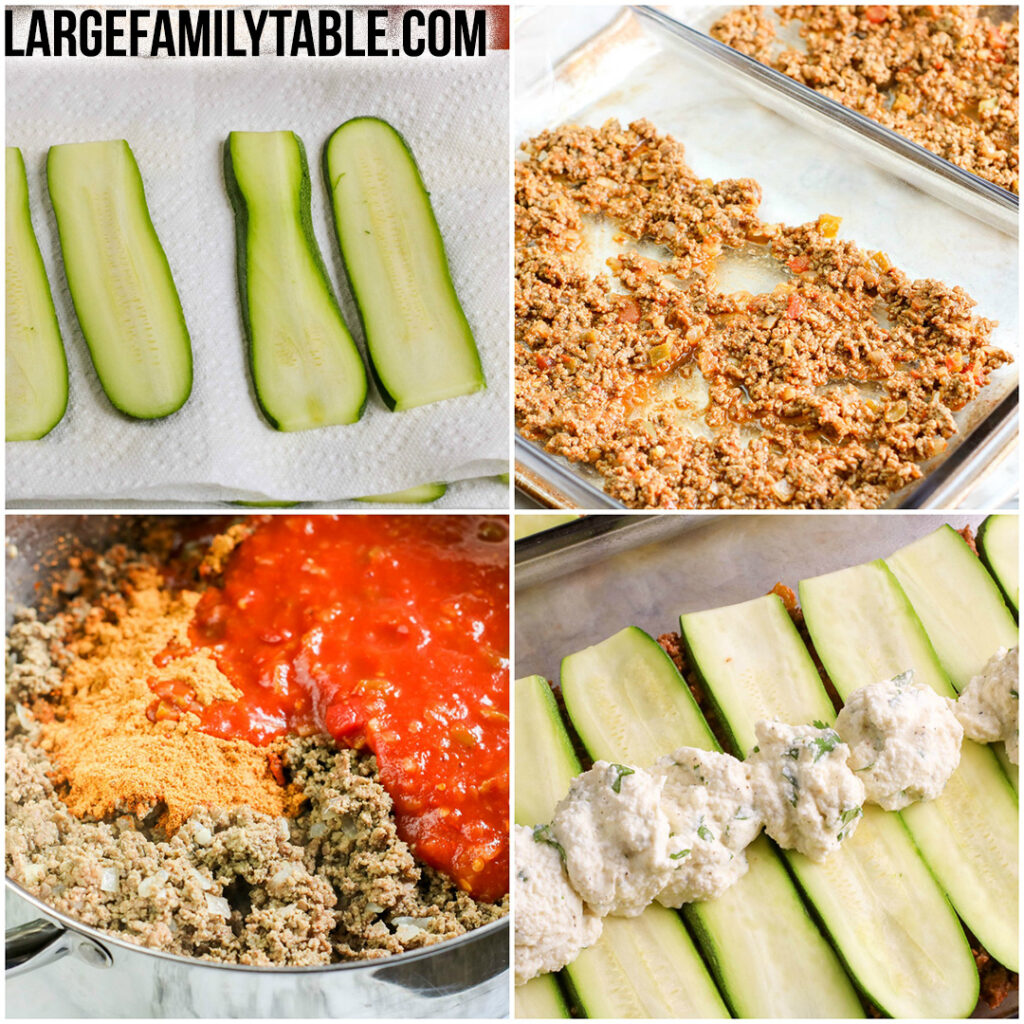 Big Family Mexican Zucchini Lasagna   Large Family Table Dinner