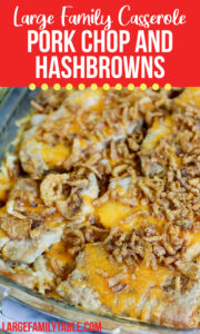 Pork Chop and Hash Browns casserole