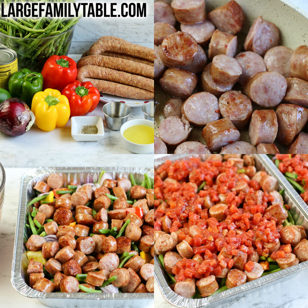 Large Family Low Carb Sausage and Peppers Casserole I Dairy Free