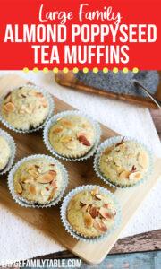 Almond Poppyseed Tea Muffins