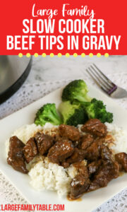 Slow Cooker Beef Tip in Gravy