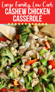 Large Family Low Carb Cashew Chicken Casserole