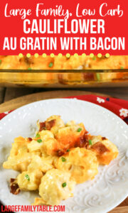 Cauliflower Au Gratin with Bacon