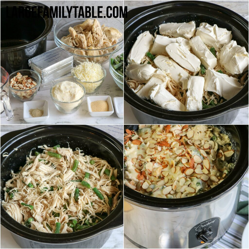 Low Carb Slow Cooker Chicken and Green Beans Casserole