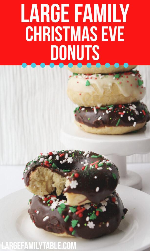 Large Family Christmas Eve Donuts | Big Family Holidays