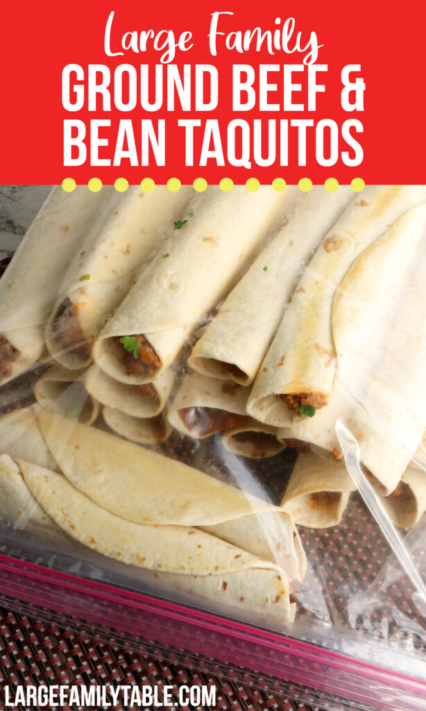 Ground Beef and Bean Taquitos