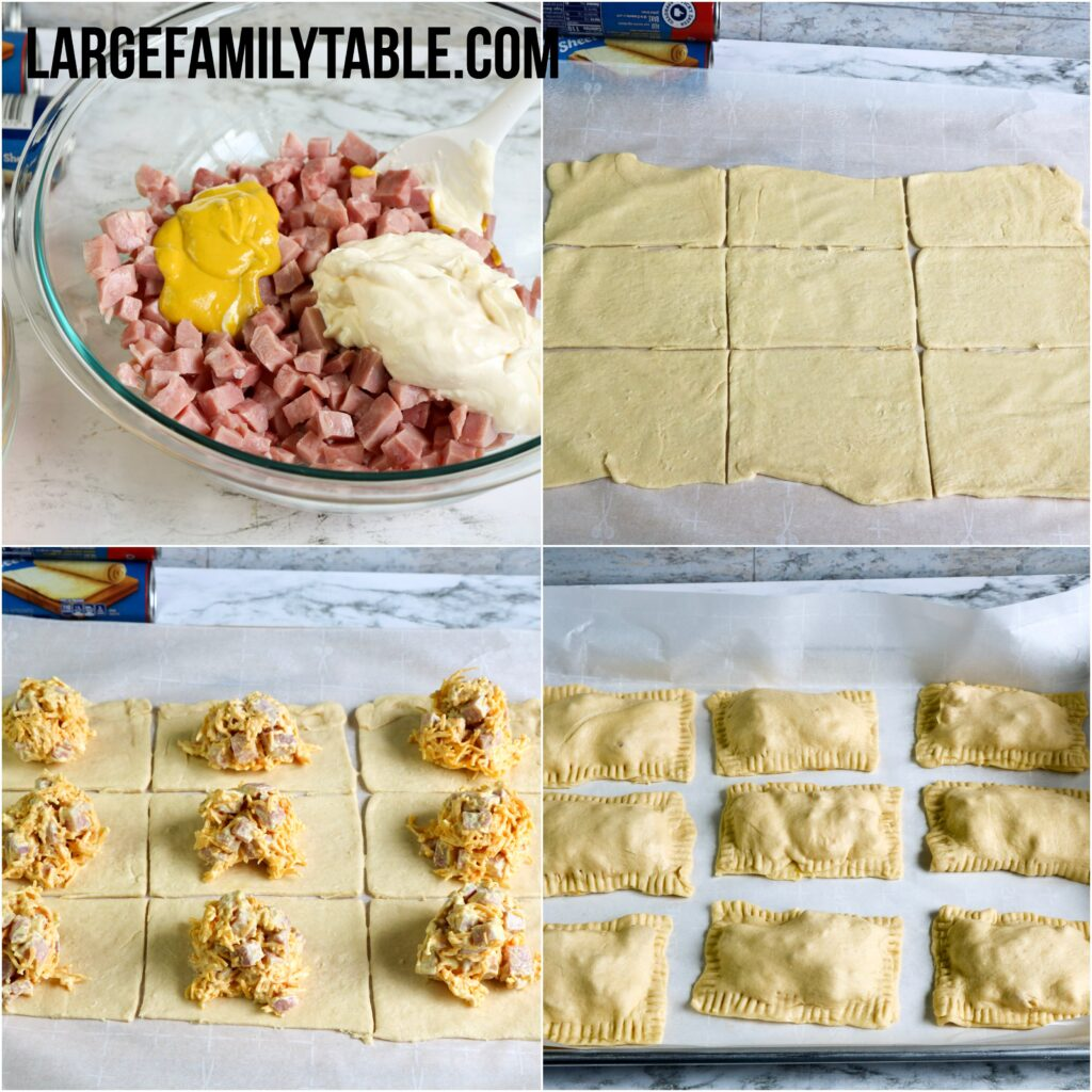 Large Family Ham and Cheese Hot Pockets Lunch Freezer Meals