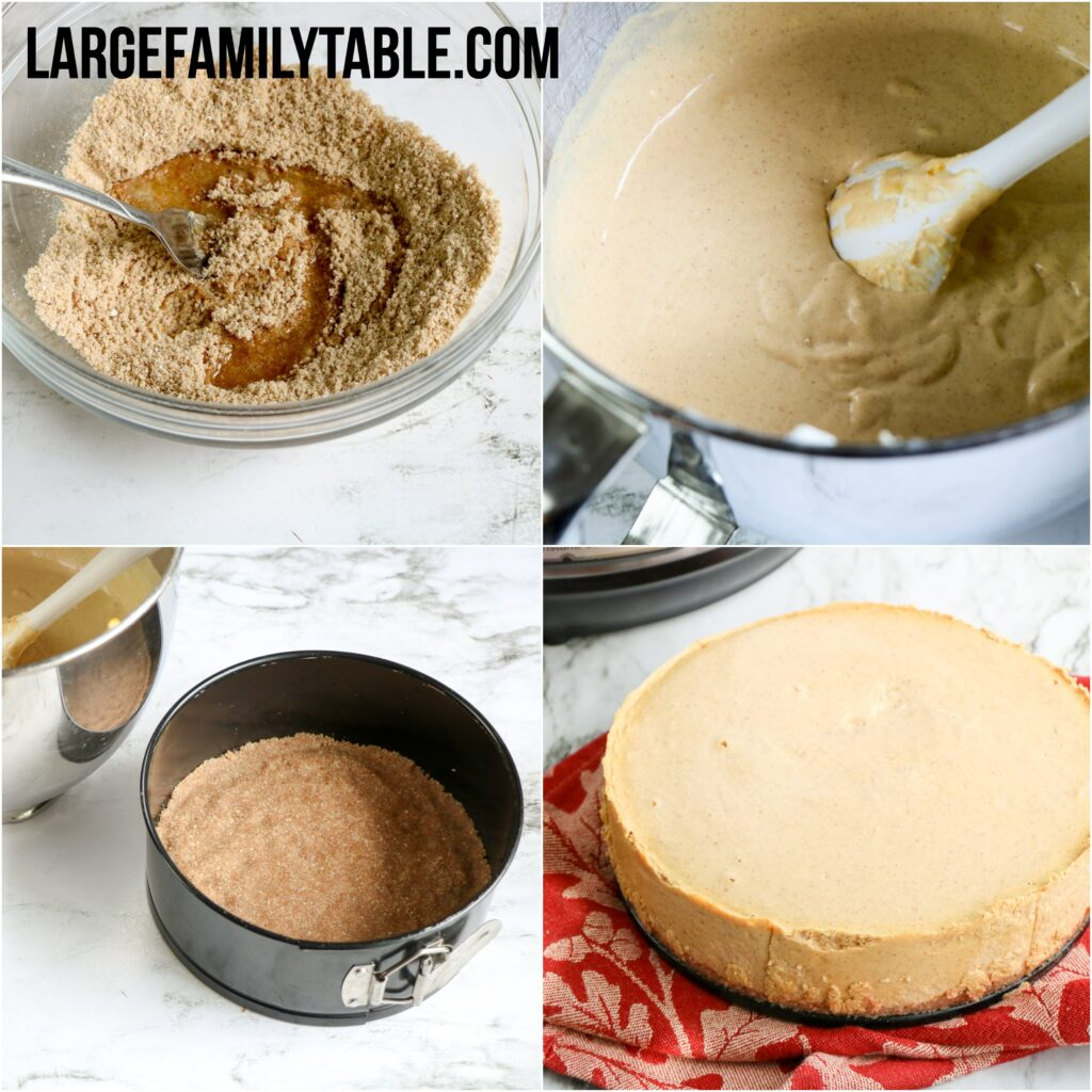Instant Pot Low Carb Pumpkin Cheesecake