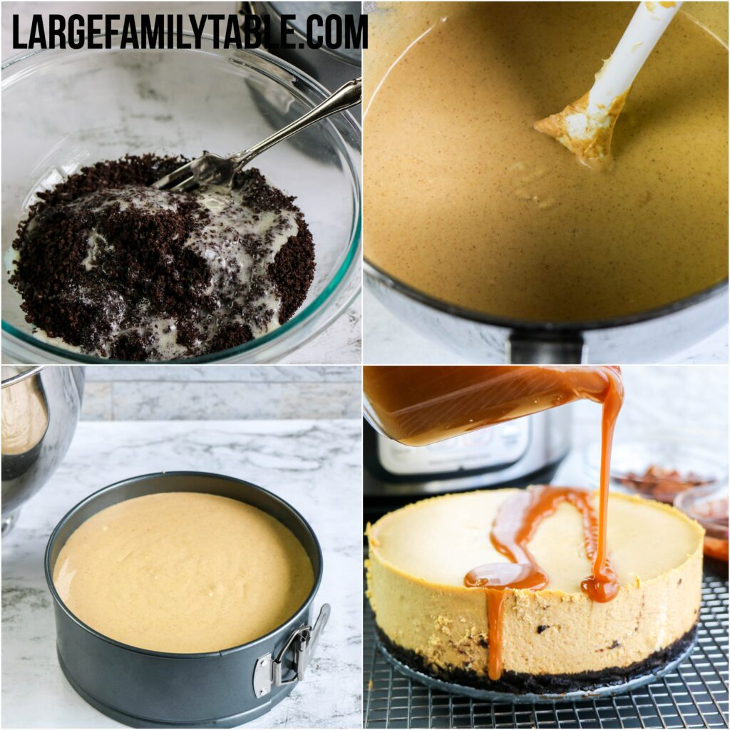 Large Family Instant Pot Turtle Pumpkin Cheesecake