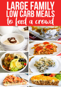 large family low carb meals