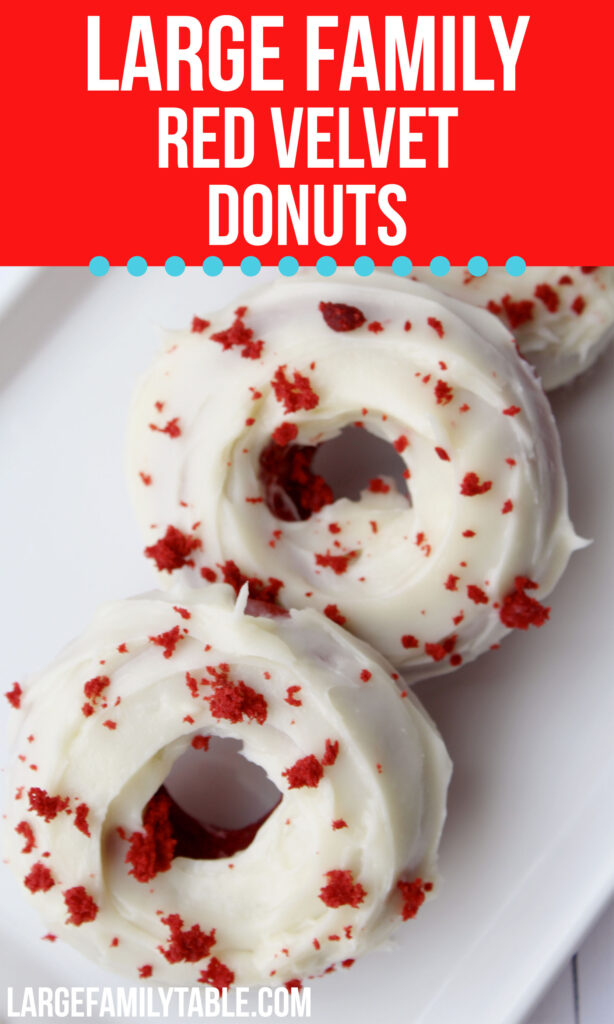 Large Family Red Velvet Donuts | Desserts for Large Families
