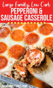 Low Carb Sausage and Pepperoni Casserole
