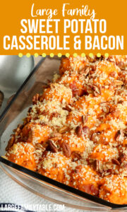 Twice Baked Sweet Potato Casserole with Bacon