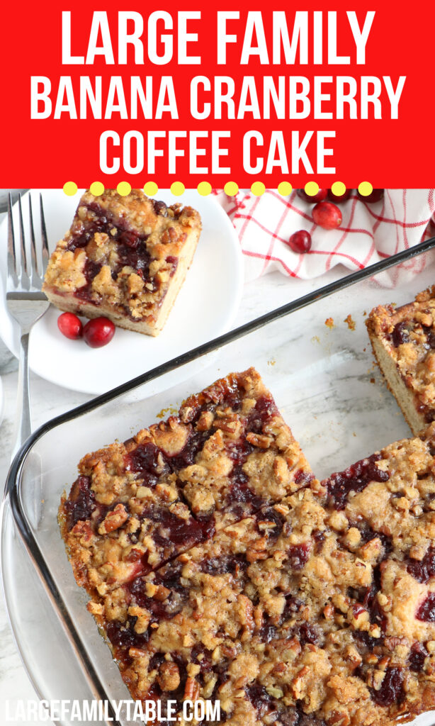Large Family Banana Cranberry Coffee Cake | Large Family Baking