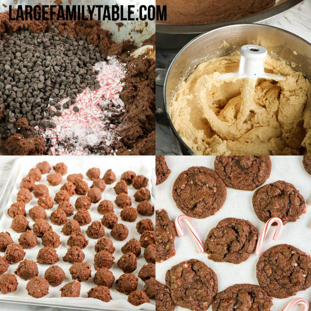 Big Family Chocolate Peppermint Cookies | Freezable and Make-Ahead Cookie Dough