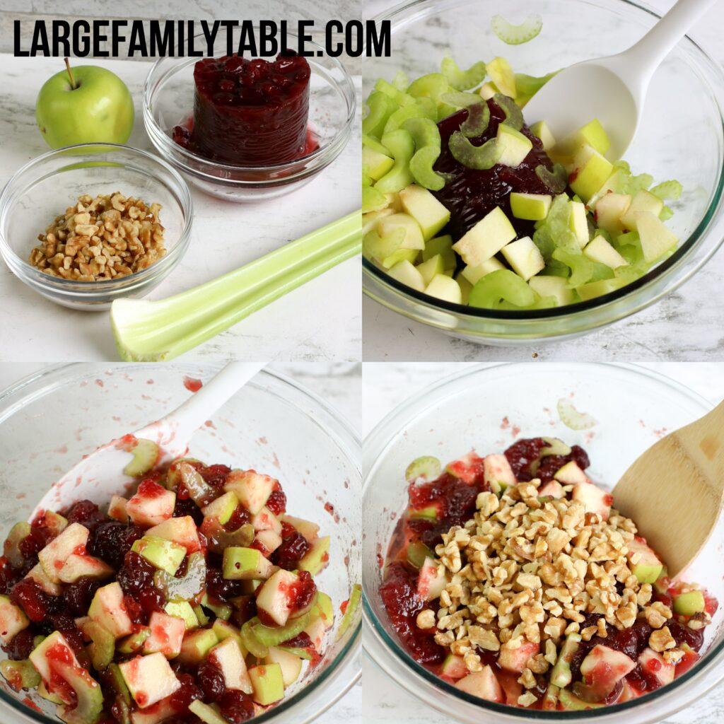 Large Family Cranberry Apple Salad