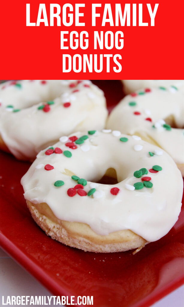 Large Family Egg Nog Donuts | Big Family Holiday Ideas!