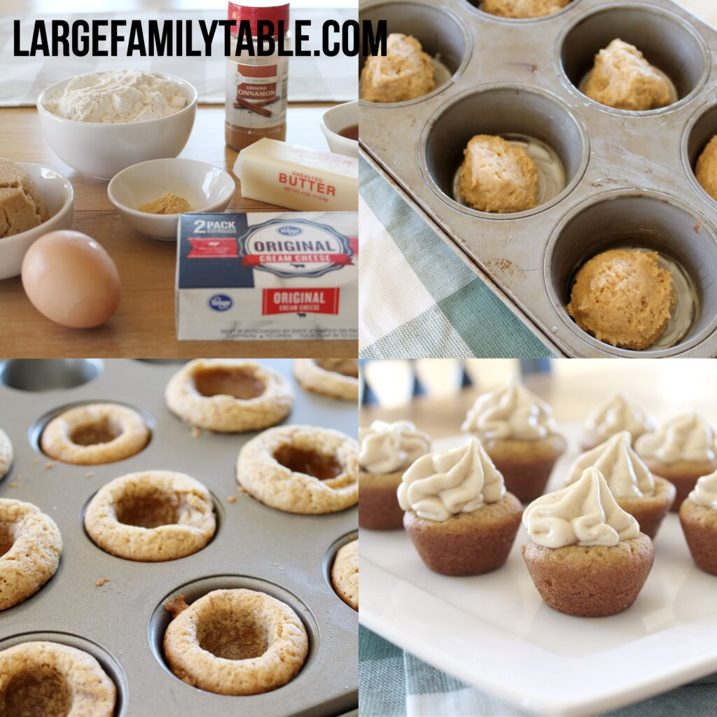 Large Family Make-Ahead Gingerbread Cookie Cups | Cupcakes for a Big Family