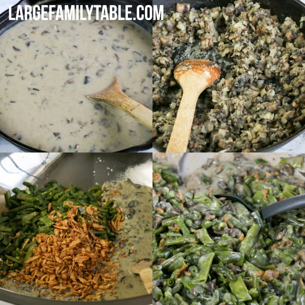 Large Family Make-Ahead Green Bean Casserole from Scratch FREEZABLE | Large Family Casseroles